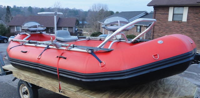 NRS Fishing Frame Package on 14' Saturn Raft