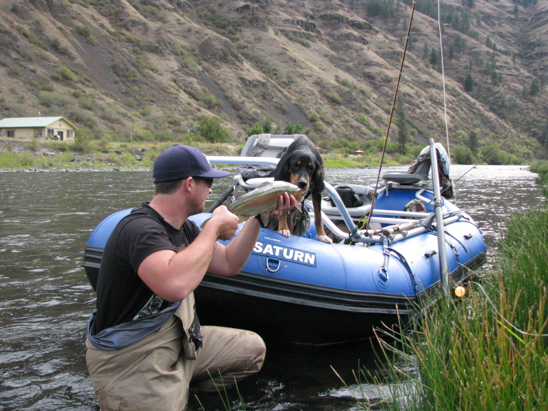 Saturn 14' Raft with Steelhead