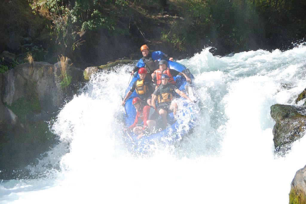 13' Saturn Whitewater Raft on a 15' Waterfall Drop