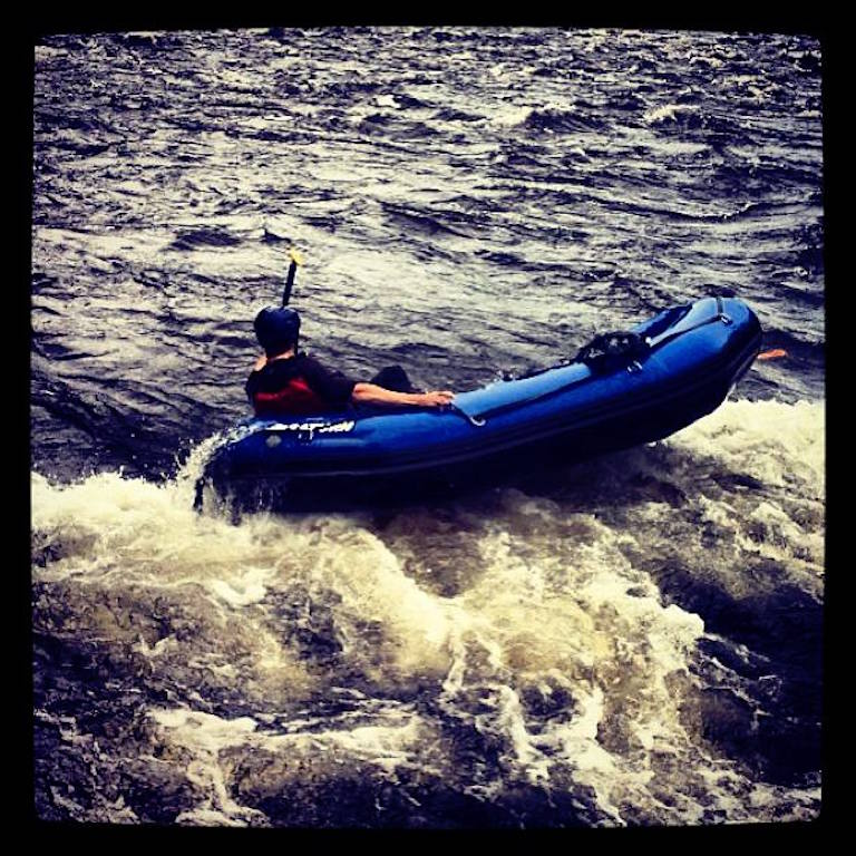 "Customer Photo - 9'6"" Saturn Whitewater Raft"