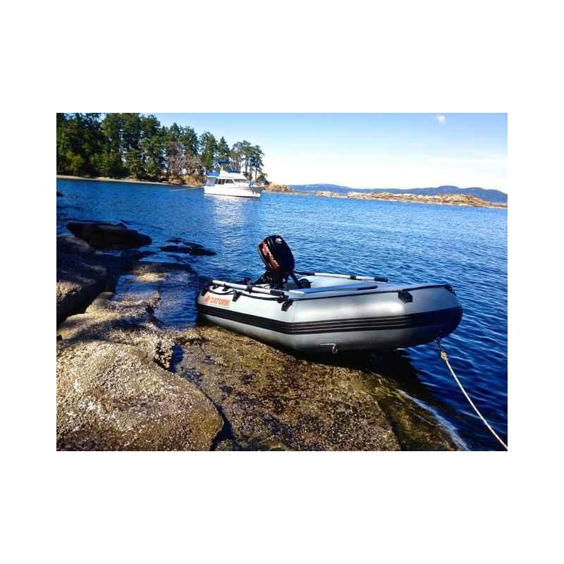 """Gun Metal Grey Saturn 8'6"""" Inflatable Boat"""