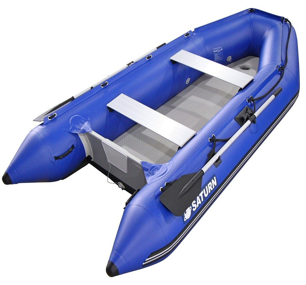 11' Saturn Inflatable Boat Dinghy SD330 - Blue Color