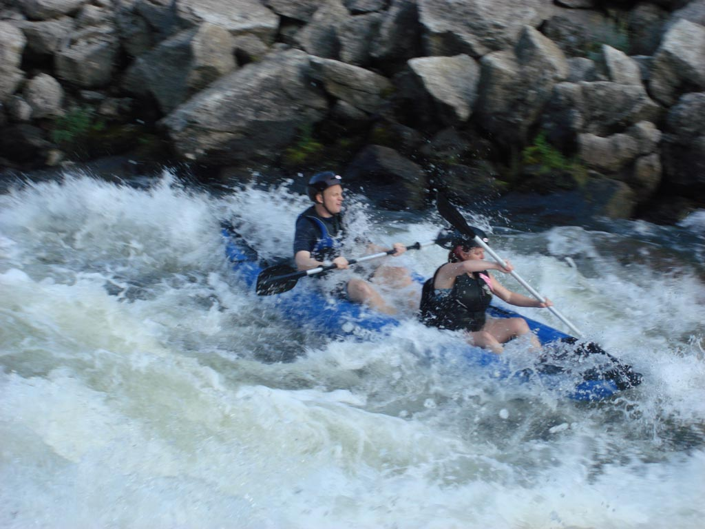Customer Photo - 13' Saturn Whitewater Kayak WK396 Blue - Whitewater Action