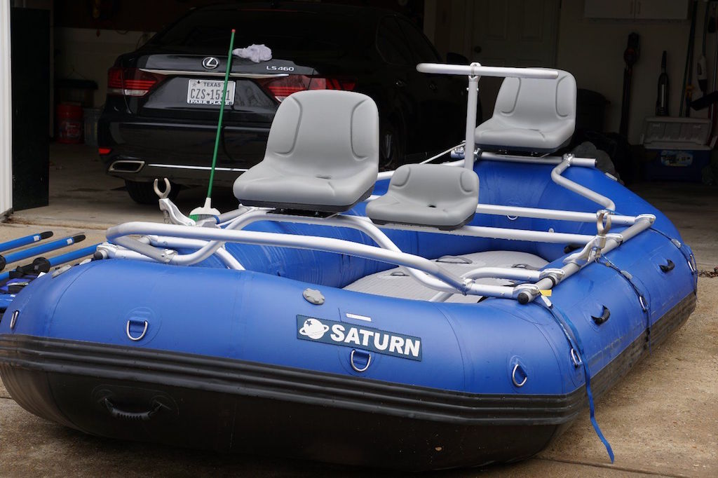2015 14' Saturn Whitewater Raft with Footstraps (No Longer Included)