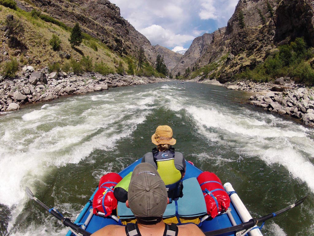 14' Saturn Whitewater Raft on the Salmon River with an NRS Bighorn II Frame