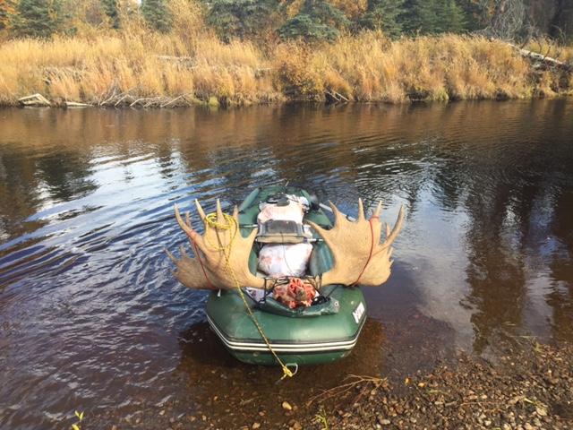 Customer Mark P - Alaska Moose Hunt with Older Version 12' Saturn Raft/Kayak (Light River Model)