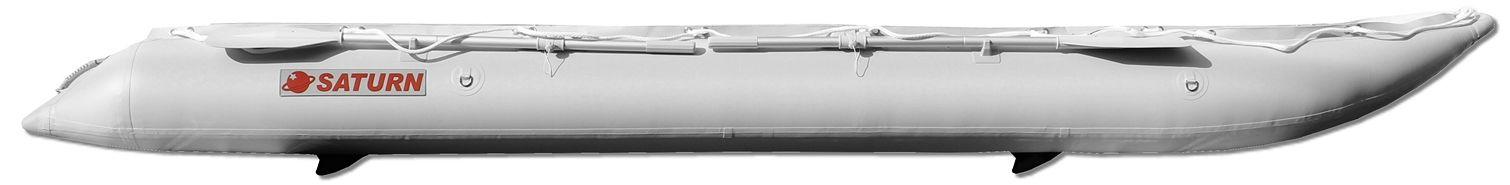 15' Saturn KaBoat SK470 - Light Grey - Side View
