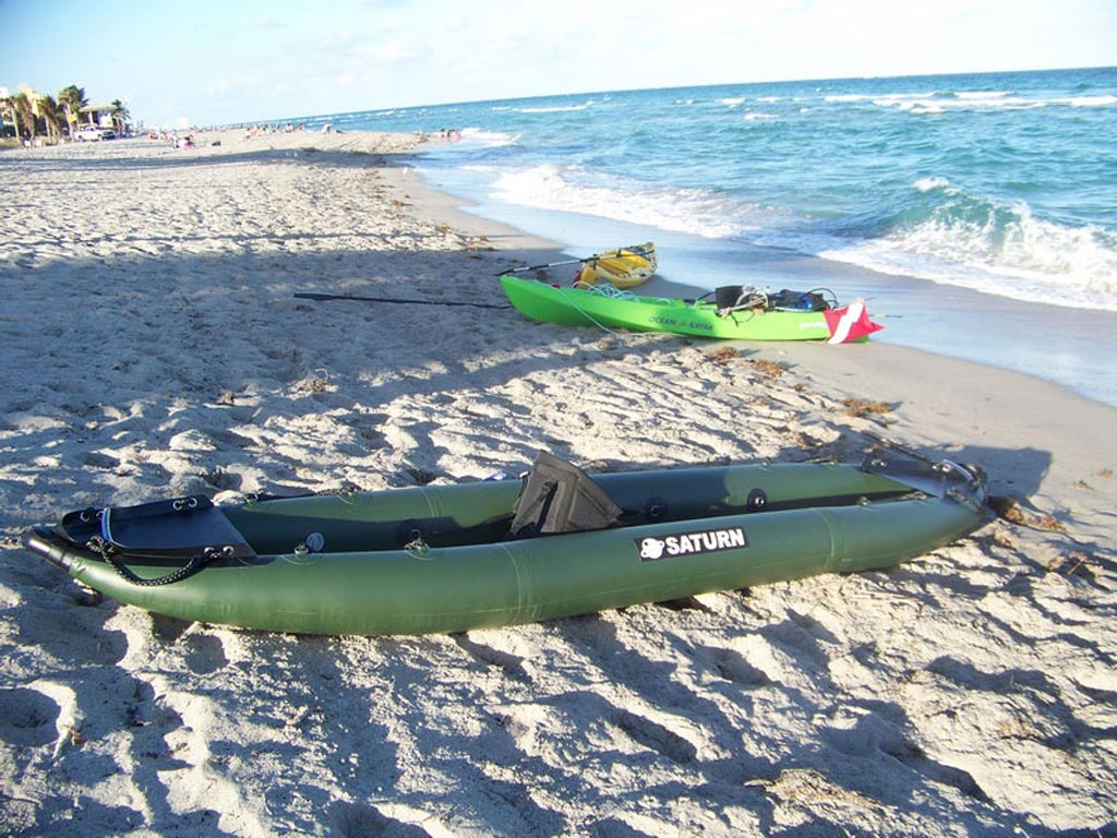 Customer Photo - 13' Saturn Inflatable Expedition Kayak RK396 - Hunter Green Model