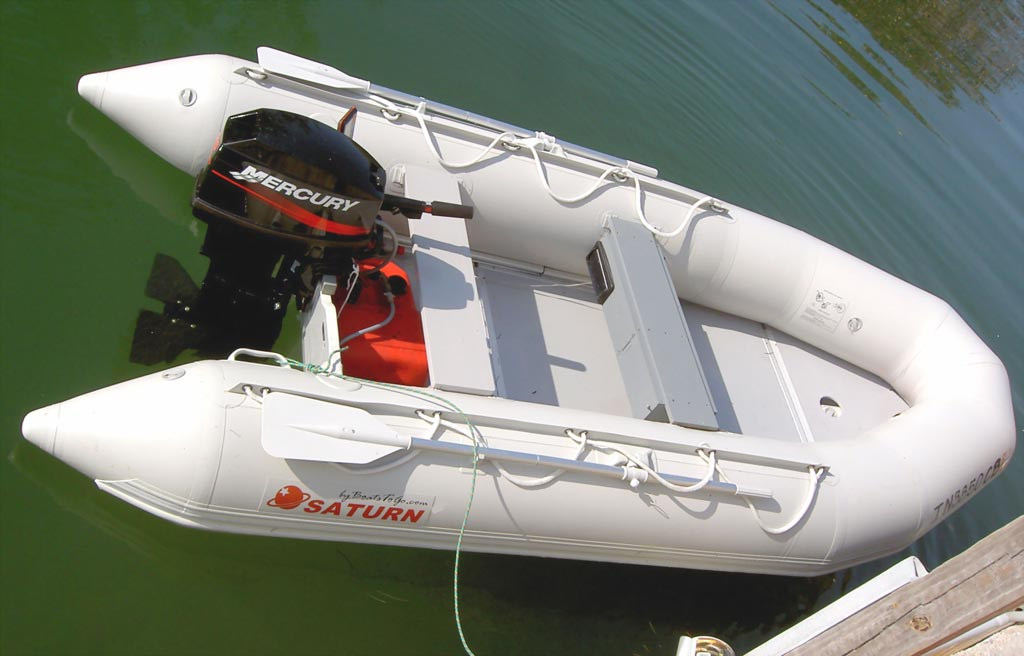13' Saturn Dinghy SD385 with Wood Floor Option