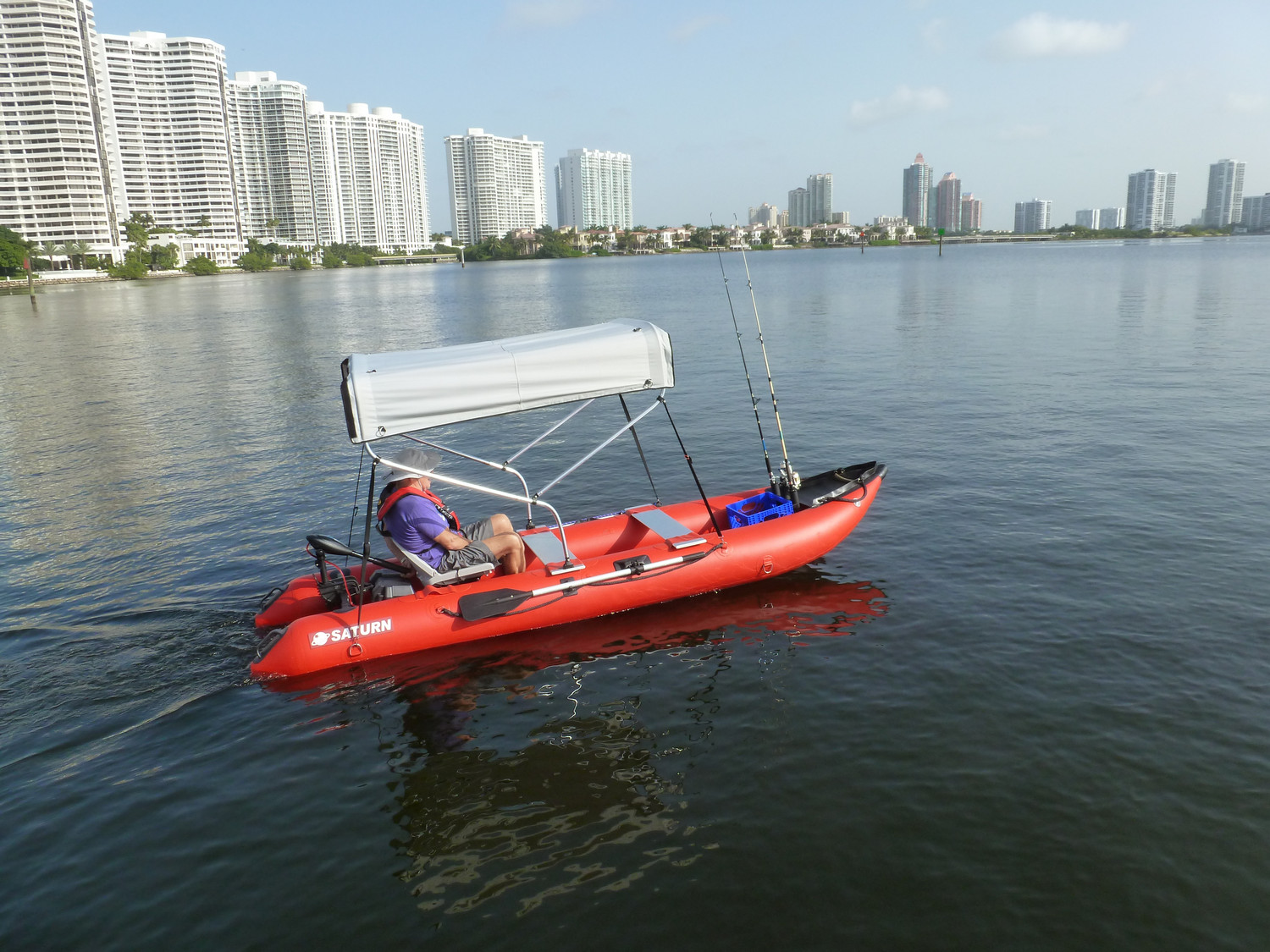Customer Photo - 14' Saturn KaBoat SK430 - Upgraded to Include Bimini Top