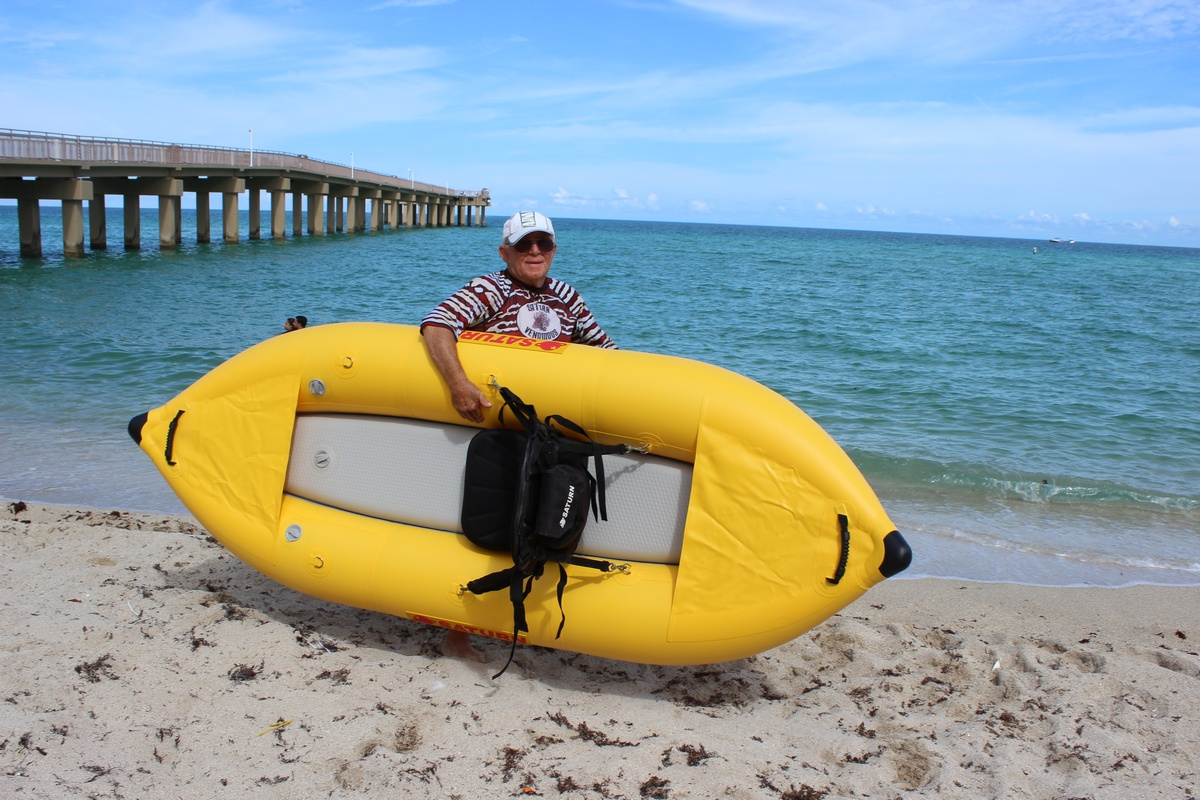 """8'6"""" Saturn Inflatable River Kayak (Ducky)"""