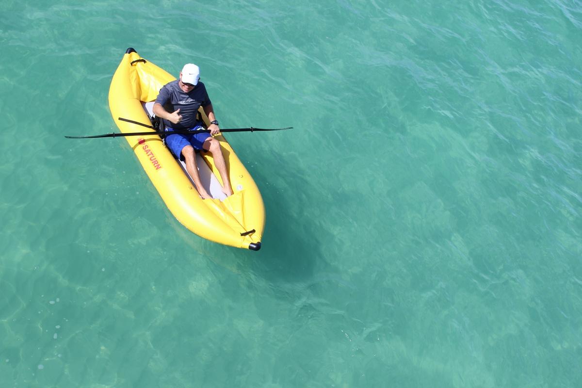 "Customer Photo - 8'6"" Saturn Inflatable River Kayak (Ducky)"