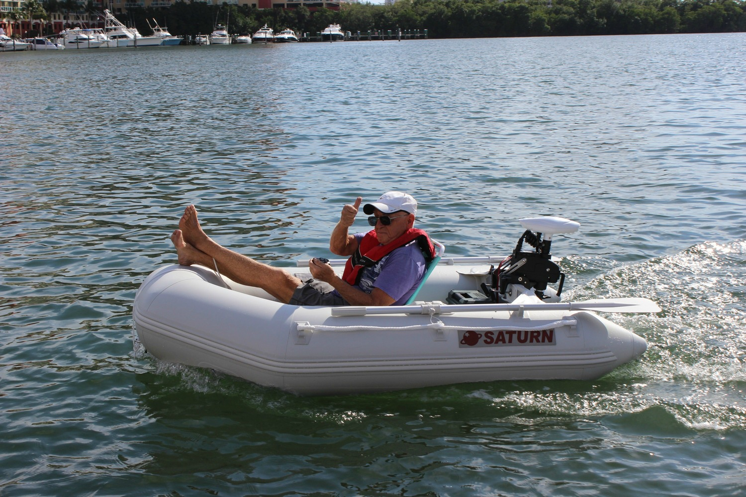 "7'6"" Saturn Dinghy with Motor"
