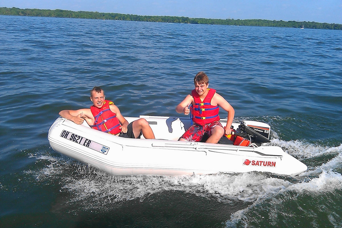 11' Saturn Inflatable Boat SD330 - Customer Photo
