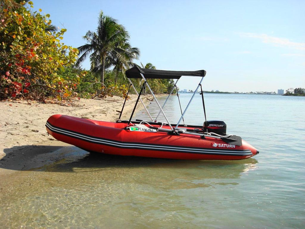 Customer Photos - 13' Saturn Dinghy SD385 with Bimini Top