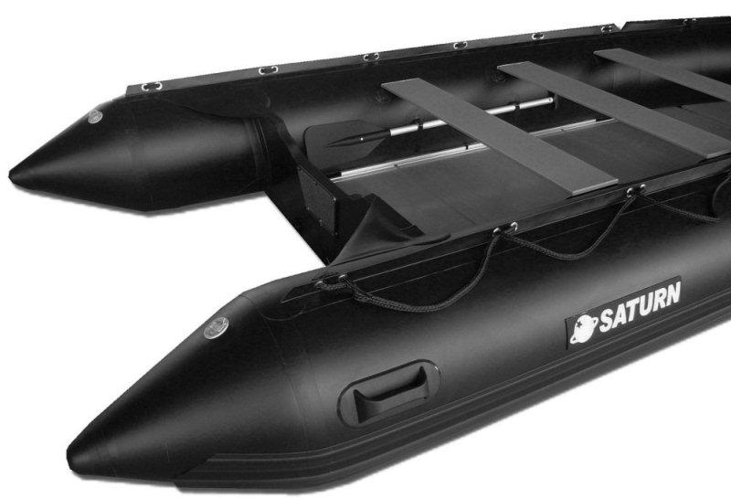15' Saturn Inflatable Boat - SD470 - w/ Aluminum Floor - Black