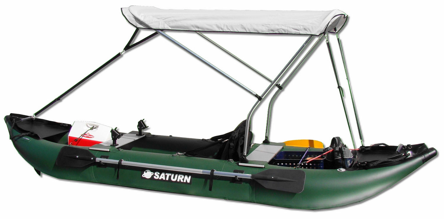 Customer Photo - 13' Saturn Fishing Kayak FK396 - Custom Bimini Top