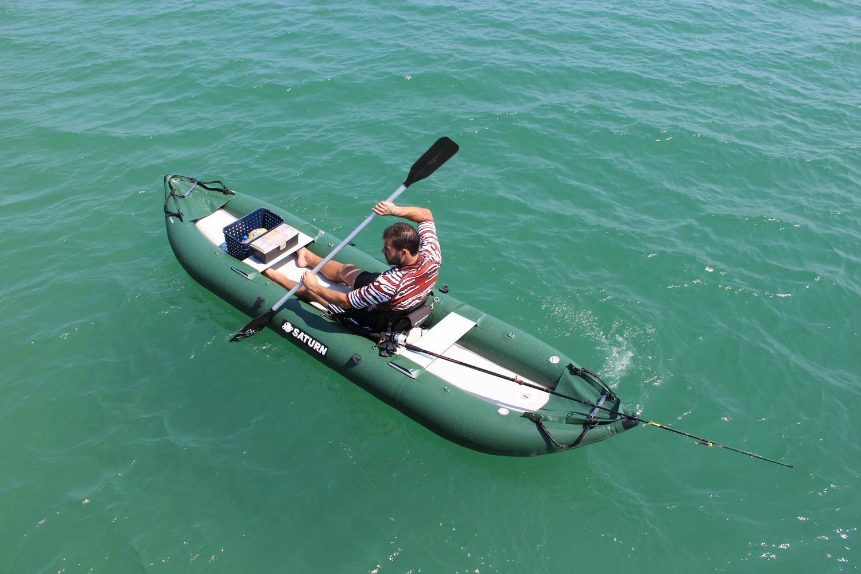 Older Version OFK396 - 13' Saturn Ocean Fishing Kayak (Shown With 1 Optional Highback Kayak Seat Attached)