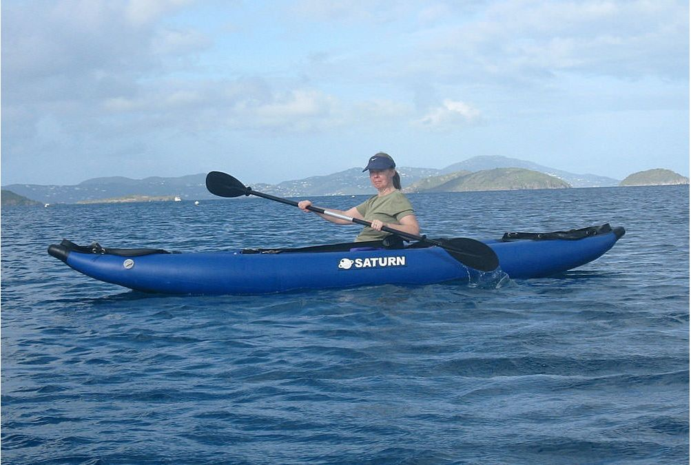 Customer Photo - 13' Saturn Inflatable Expedition Kayak RK396 - Ocean Life