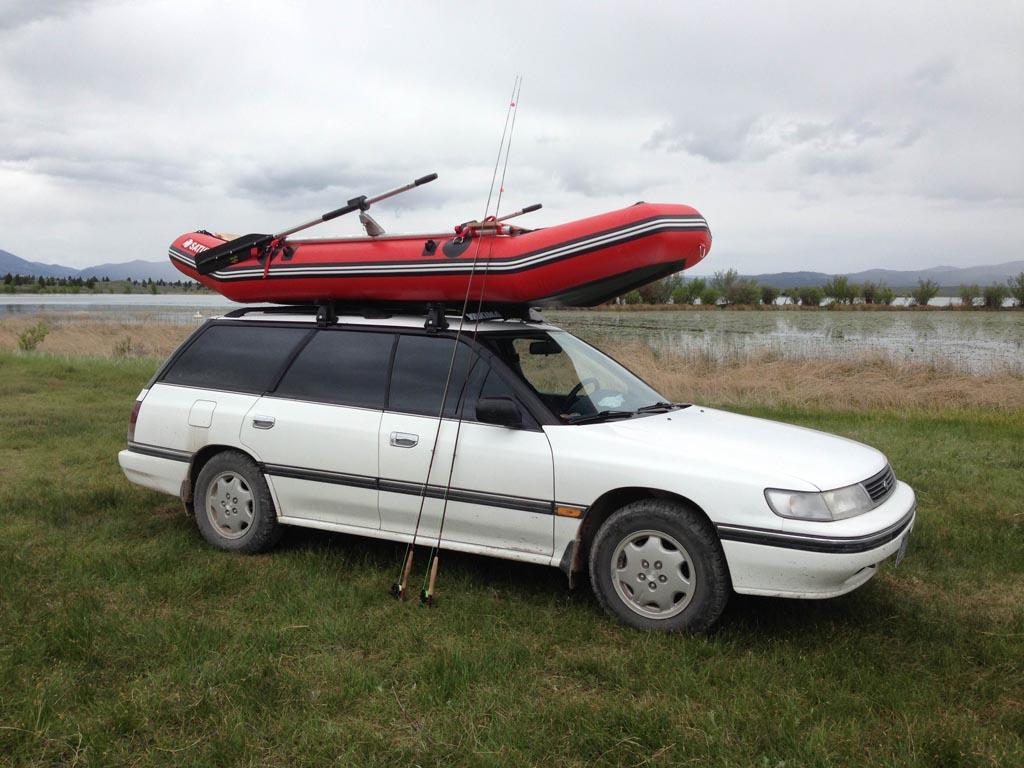 Customer Photo - Older Version 12' Saturn Raft/Kayak RED w/ Custom Frame