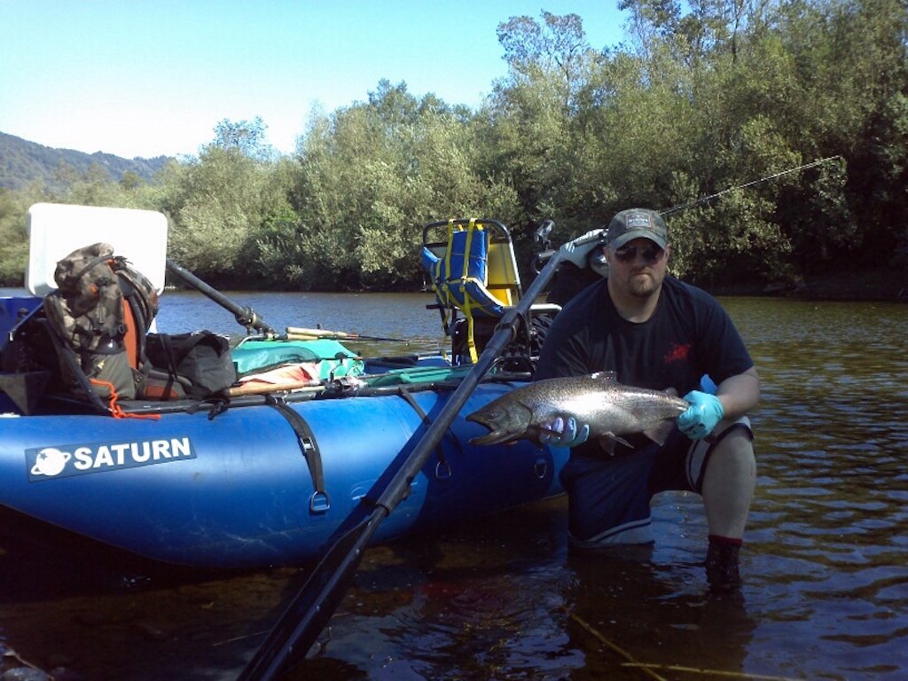 Customer Review Photo - 14' Saturn Cataraft with Custom Fishing Machine
