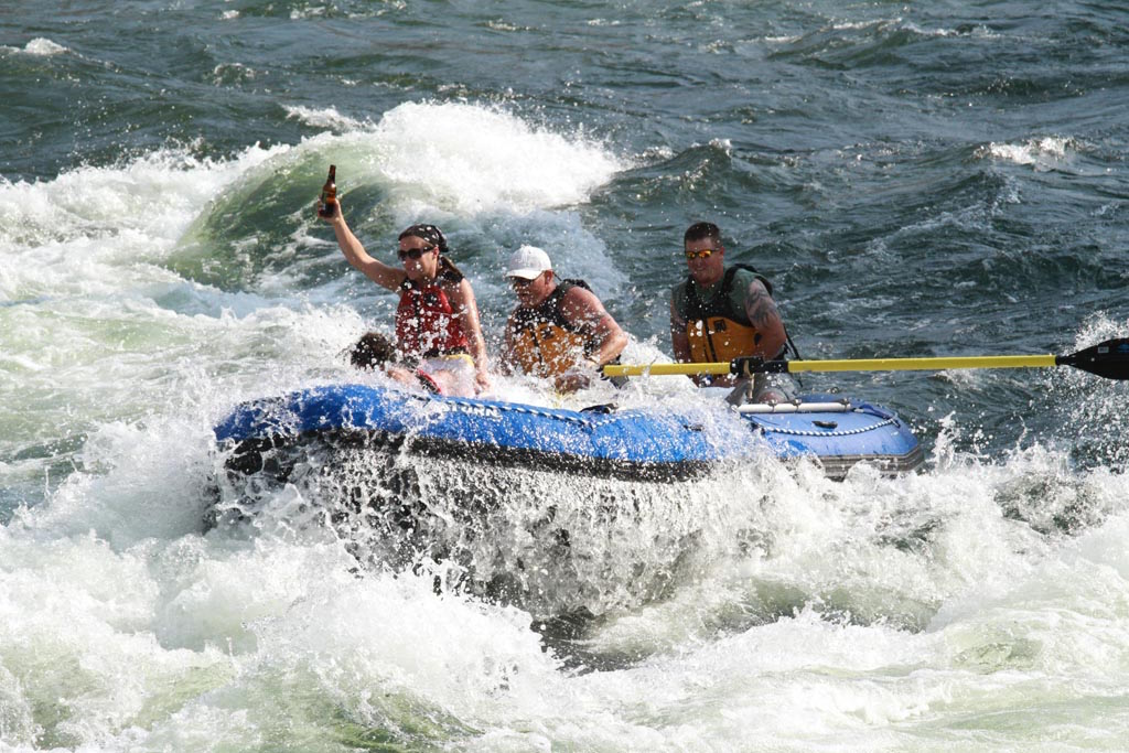 Customer Photo - 16' Saturn Whitewater Raft in Big Whitewater - Cheers