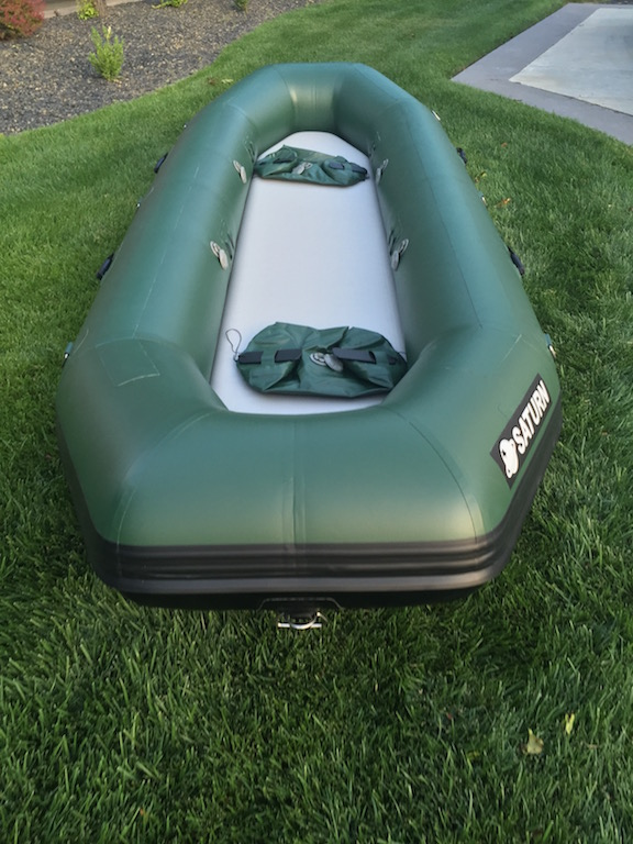 "2017 12'6"" Saturn Soloquest Self-Bailing Raft - Front View"