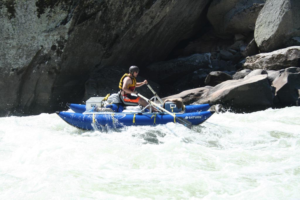 Customer Review Photo - 14' Saturn Cataraft in Class IV Whitewater - NRS Rowing Frame