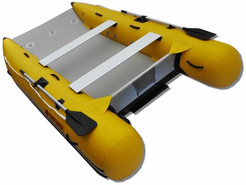 11' Saturn Inflatable Catamaran MC330 - Rear View
