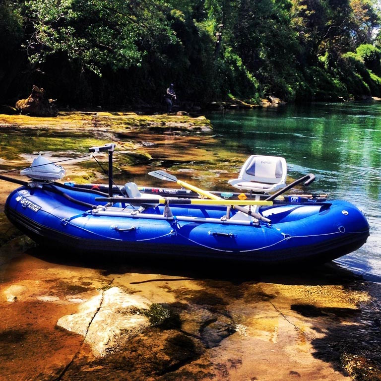 Customer Photo - 14' Saturn Whitewater Raft - Custom Fishing Frame Setup