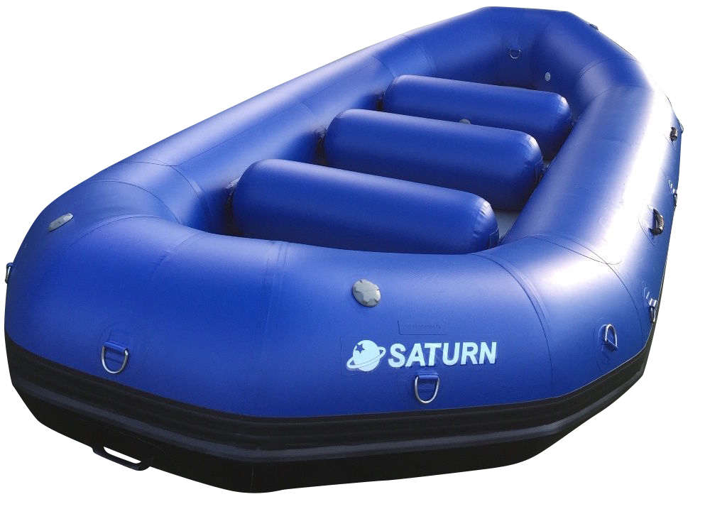 14' Saturn Raft (Blue) - Front View