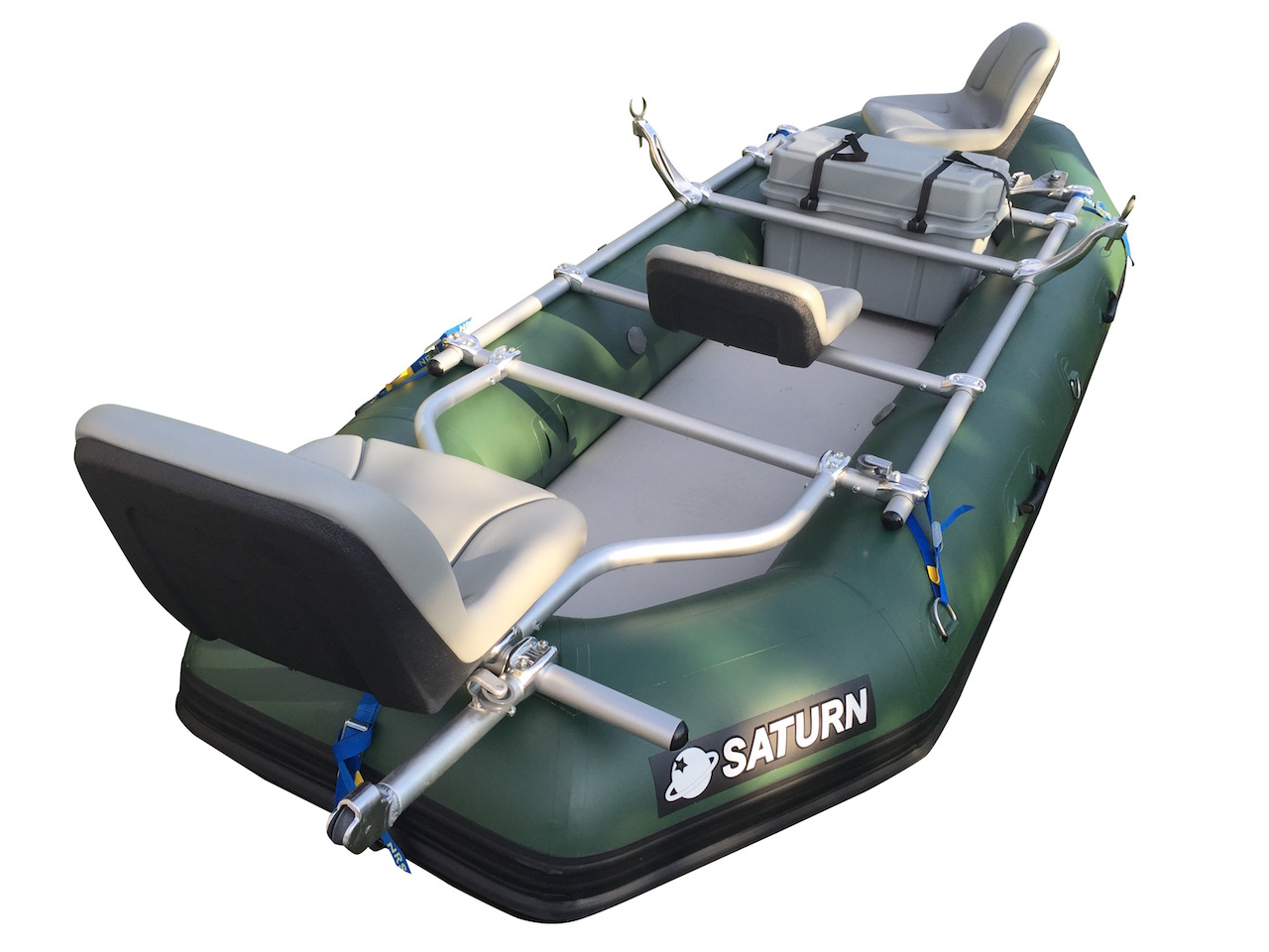 New 2017 12'6' Saturn Whitewater Raft - Custom 3 Seat NRS Fishing Frame