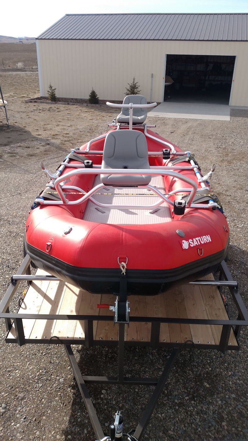 "14'6"" Saturn Raft with NRS 3 Seat Fishing Frame"