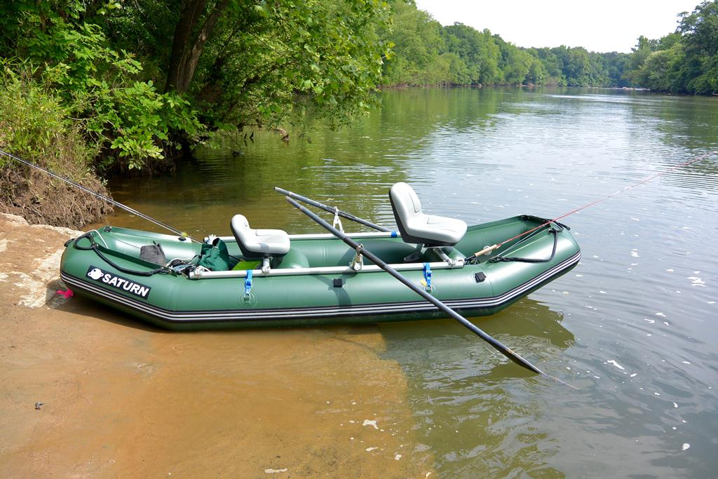 12' Saturn Raft/Kayak with Custom NRS Fishing Frame