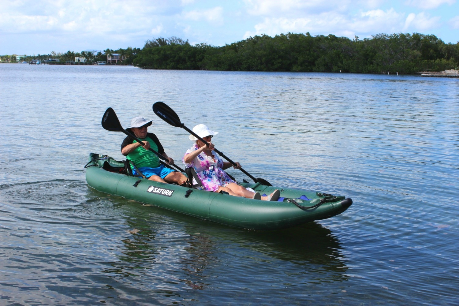 13' Saturn Ocean Fishing Kayak - 2 Paddlers Are Comfortable (Shown with Optional Upgraded Highback Kayak Seats)