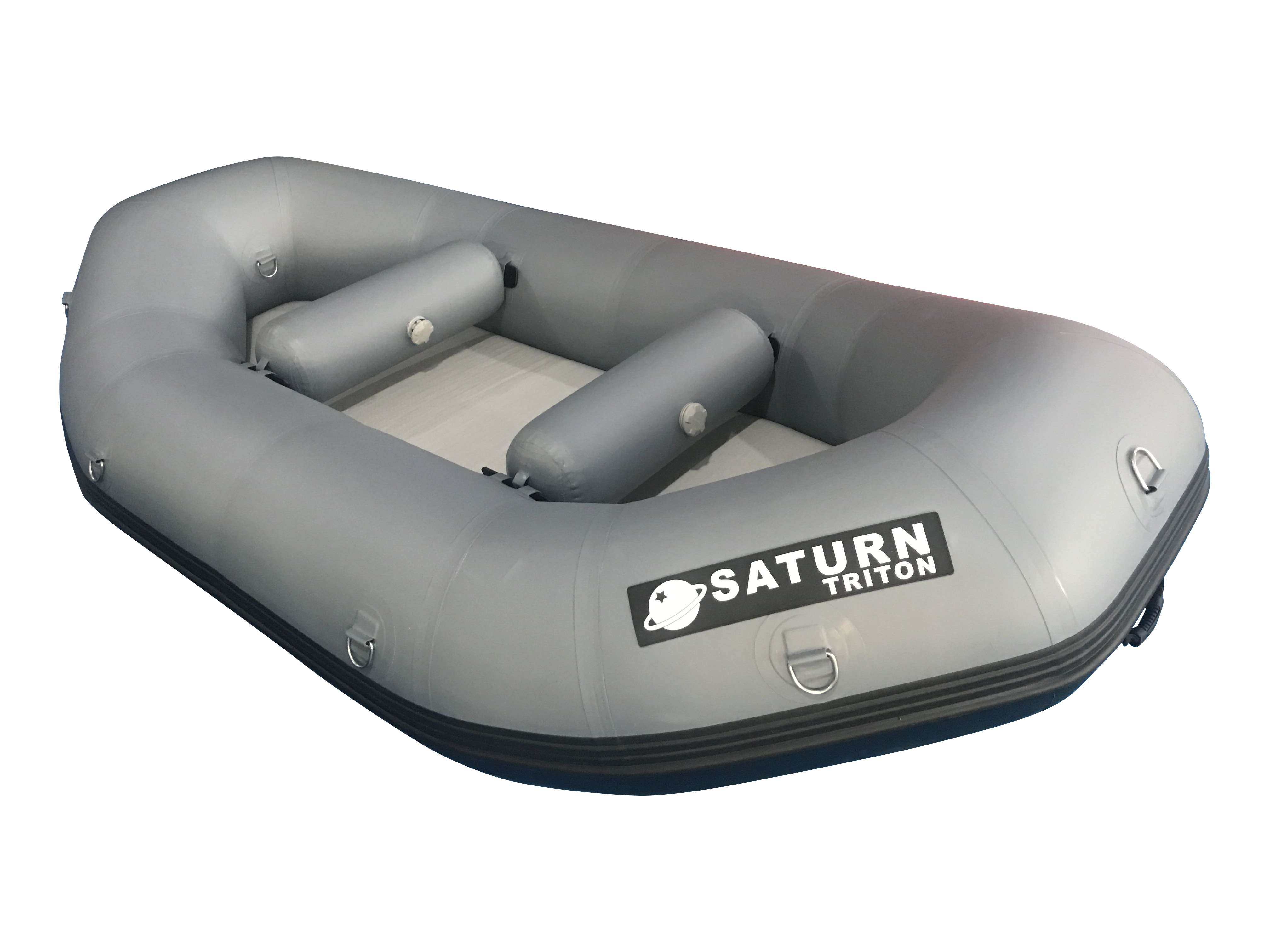 "2021 9'6"" Saturn Triton Whitewater Raft - Dark Grey"