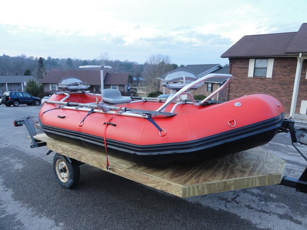 13' Saturn Whitewater Raft w NRS Fishing Frame