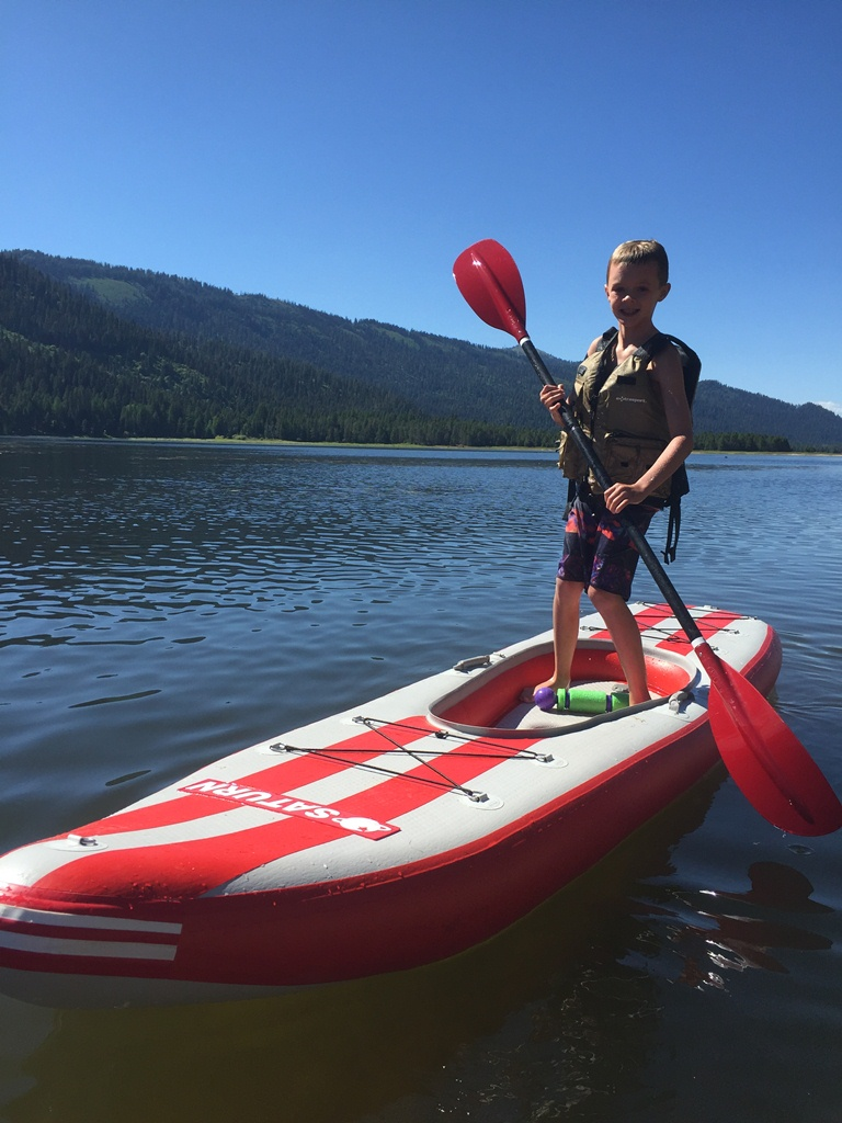 Cannon Janson rockin' the Airfast SUP