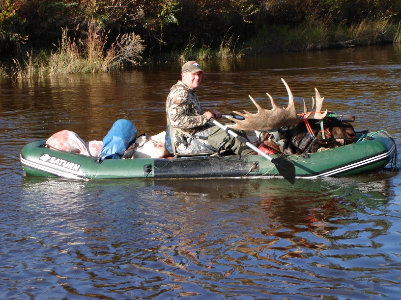 Customer Mark P - Alaska Moose Hunt with Older Version 12' Saturn Raft/Kayak (Light River Model)