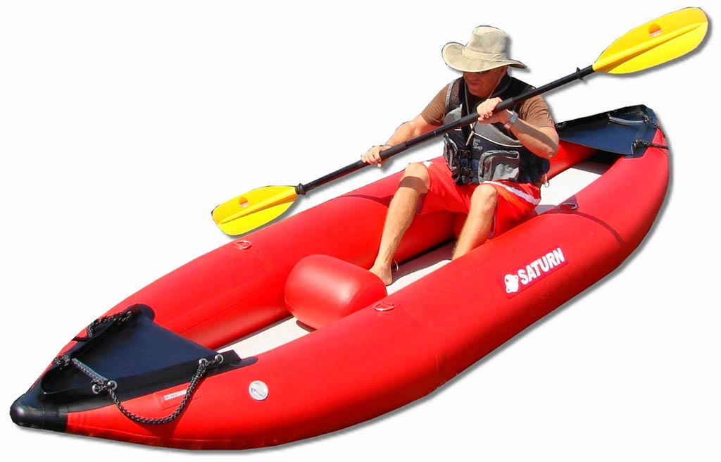 13' Saturn Inflatable Expedition Kayak with Included 2 Inflatable Seats