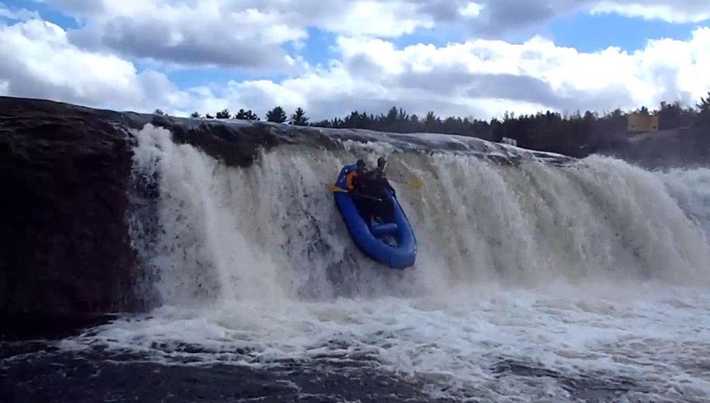 """Customer Photo - 9'6"""" Saturn Whitewater Raft on Class VI Waterfall!"""