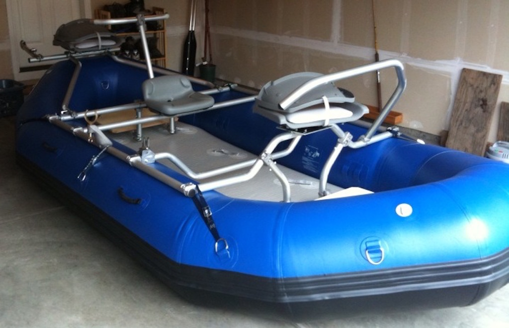 14' Saturn Whitewater Raft with 3 Seat NRS Fishing Frame