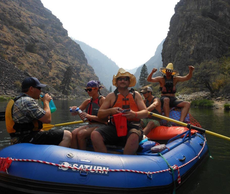 Customer Review Photo - 15' Saturn Whitewater Raft on Multi-Day Camping Trip on Salmon River