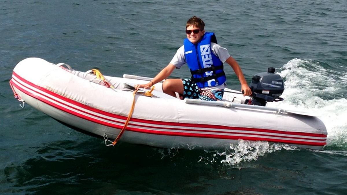 "Customer cruising in the 9'6"" Azzurro Mare Inflatable Boat"