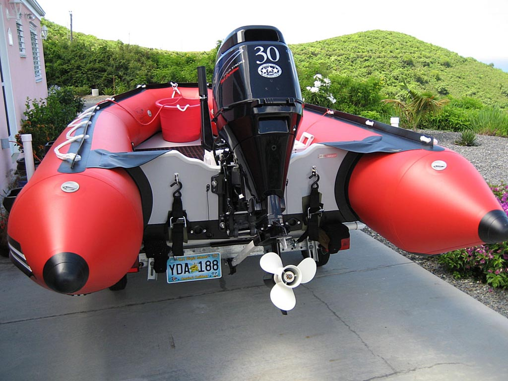 Customer Photo - 14' Saturn Inflatable Boat - Red - Wood Floor