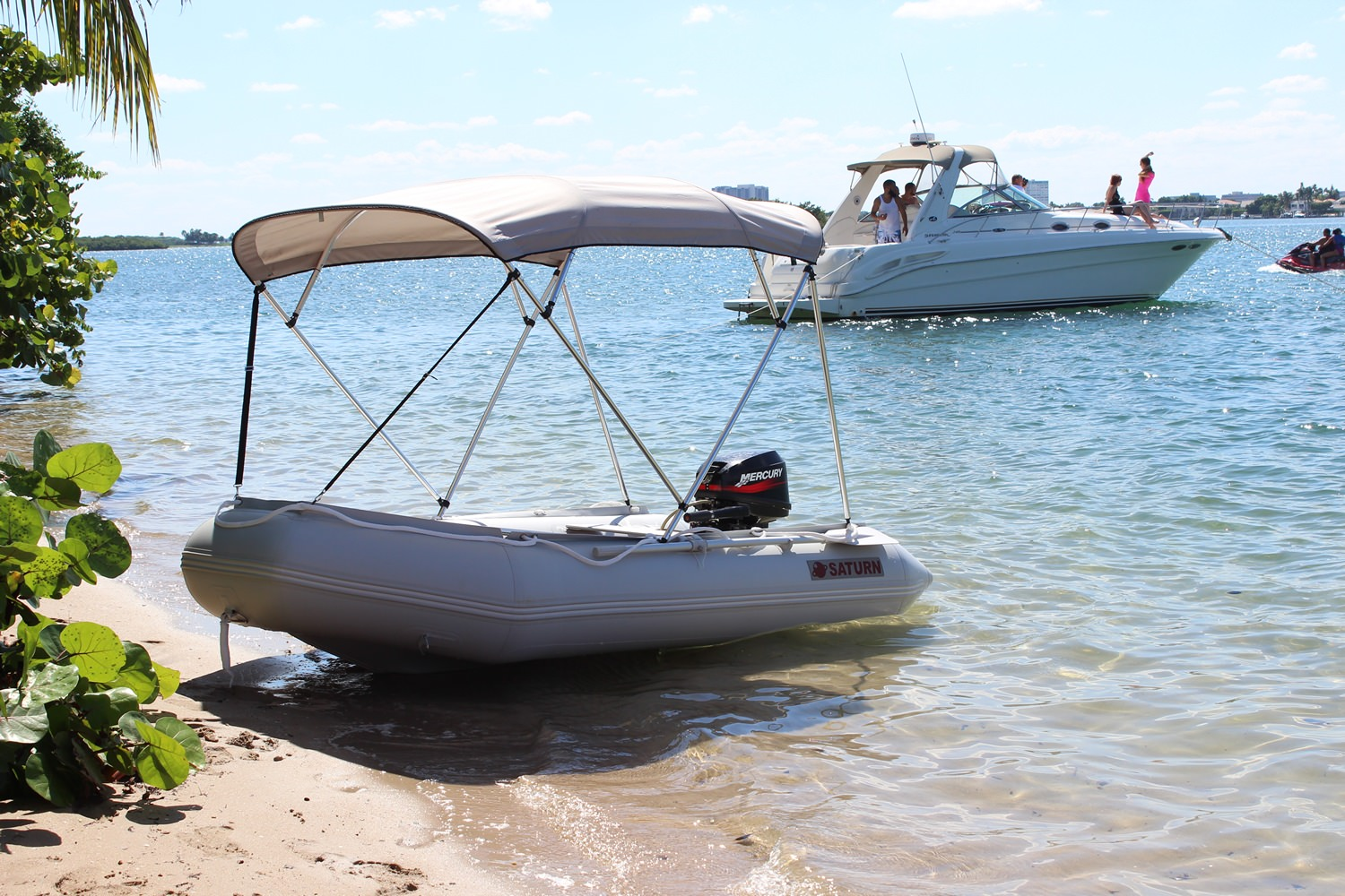 11' Saturn Inflatable Boat SD330 - With Bimini Top