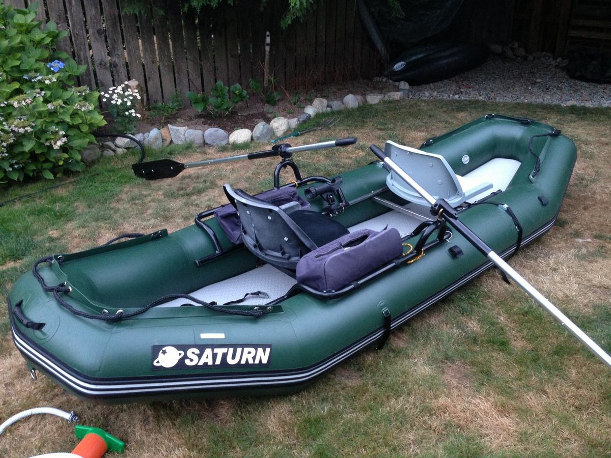 Customer Photo - 12' Saturn Raft/Kayak - RD365 GREEN (Brand New Upgraded Leafield C7 Valves and Outfitter Floor Not Shown)