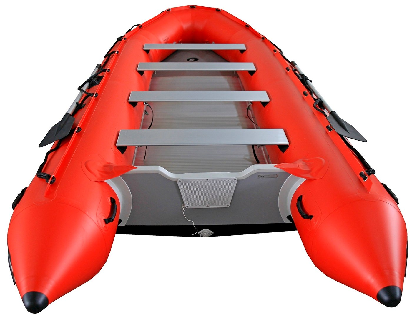16' Saturn XHD487 Inflatable Boat - Transom Rear View