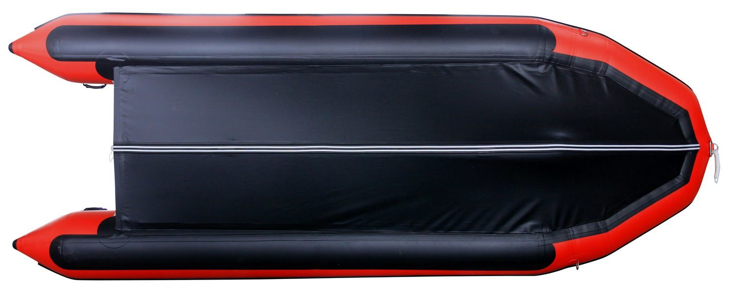 16' Saturn XHD487 Inflatable Boat - Bottom View and Extra Protection Black PVC Layers