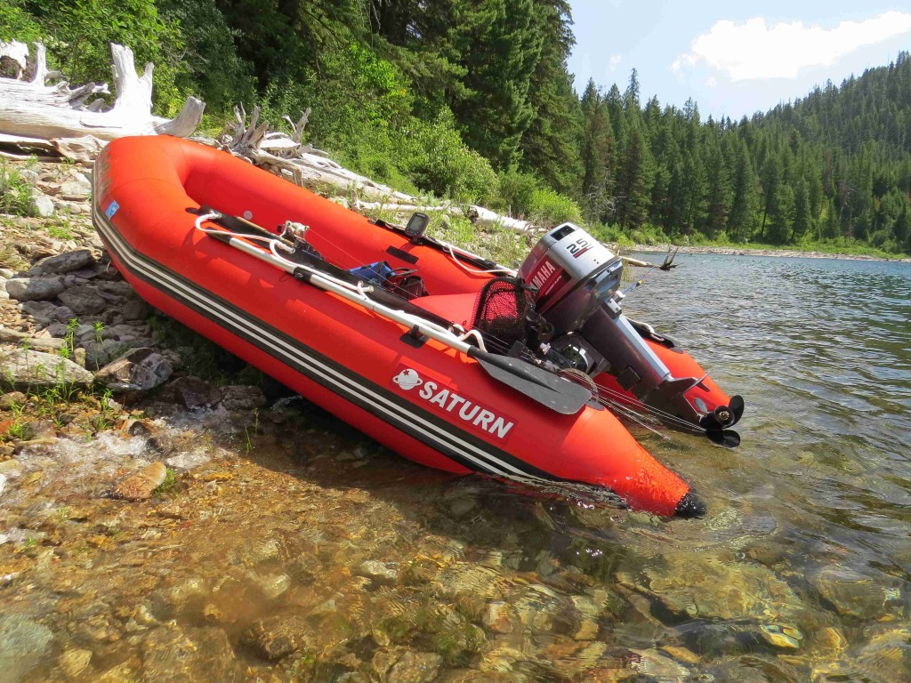 """8'6"""" Saturn Dinghy SD260 with Outboard Motor"""